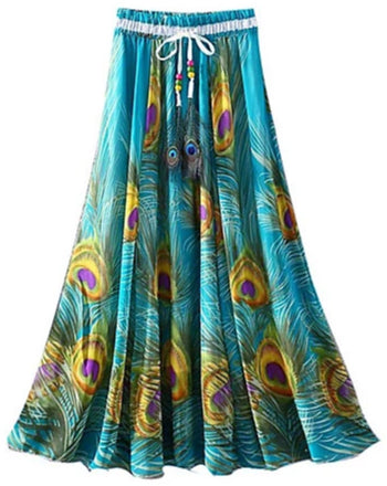 Image of Front view of a women's boho convertible dress/skirt.