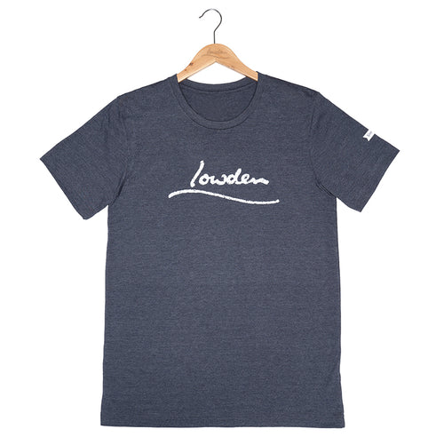 Distressed Logo T-shirt Unisex - Heather Navy