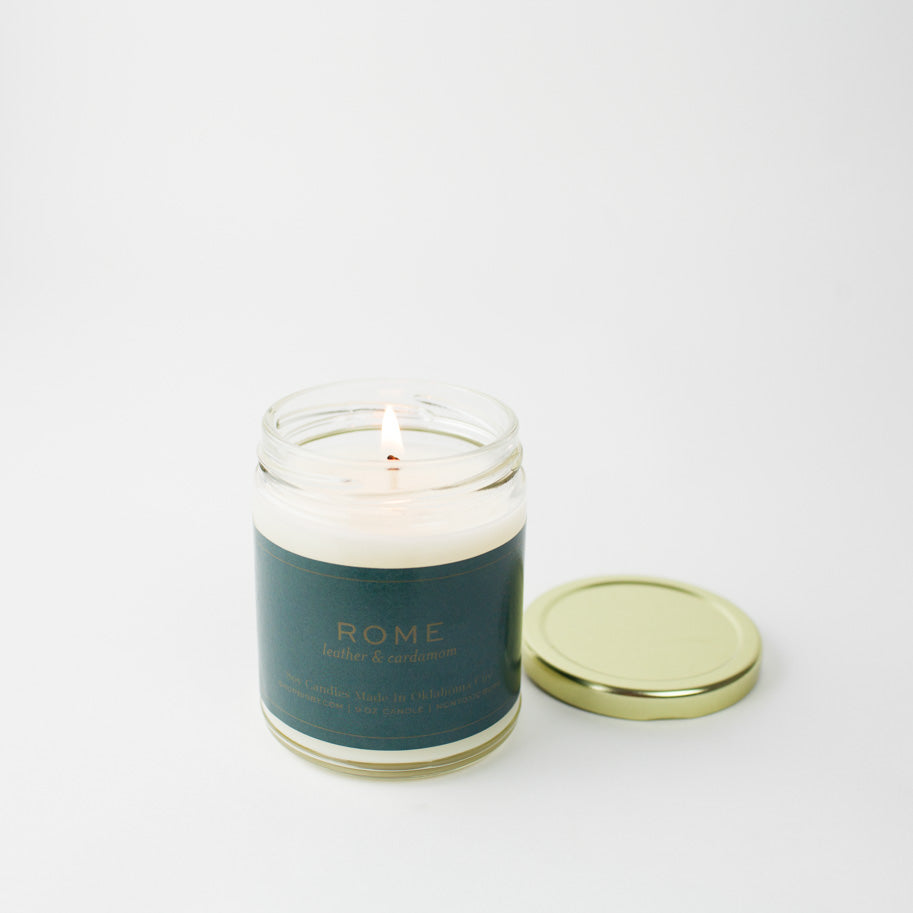 Rome Gold Lid Candle