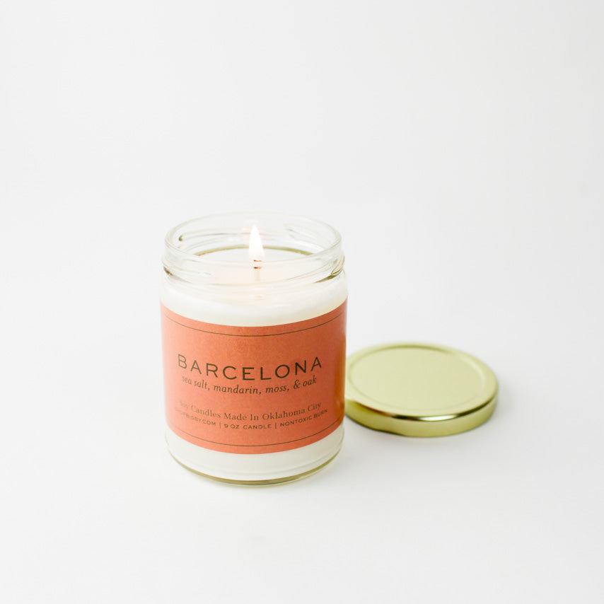 Barcelona Gold Lid Candle