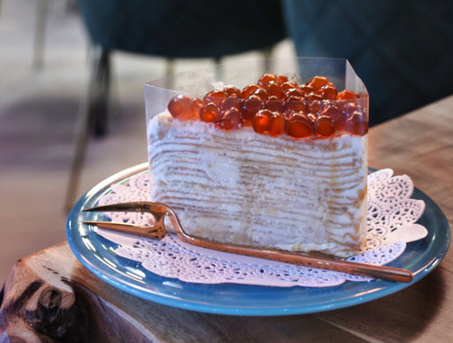 Bubble tea crepe cake