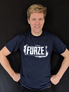 Kids' Furze Logo T-Shirt - Navy Blue