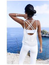 Load image into Gallery viewer, Fitness Women Breathable Yoga Top Gym Workout Tank Top Sexy Backless Sport T Shirt Women Running Shirt Sport Crop Top