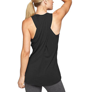 Women's Cross Back Yoga Shirt Sleeveless Racerback Workout Active Tank Top Quick Drying Fitness Running Tank Top Gym Yoga shirt