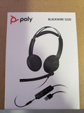 Plantronics Blackwire 5220 C5220 USB-A Headphones Wired 3.5mm Jack, Black