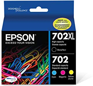 Epson T702XL-BCS DURABrite Ultra Black High Color and Capacity Combo Pack Standard Capacity Ink Cartridge