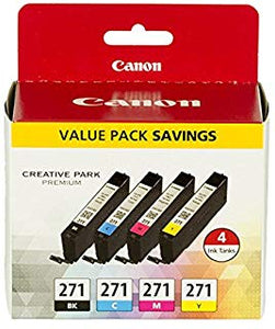 Canon CLI-271 Ink Pack for MG7720, MG6820, MG5720, TS9020, TS8020, TS6020, TS5020 Printers