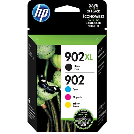 HP 902XL (T0A39AN) Mukti-Pack Black/Tri-Color Ink Cartridges