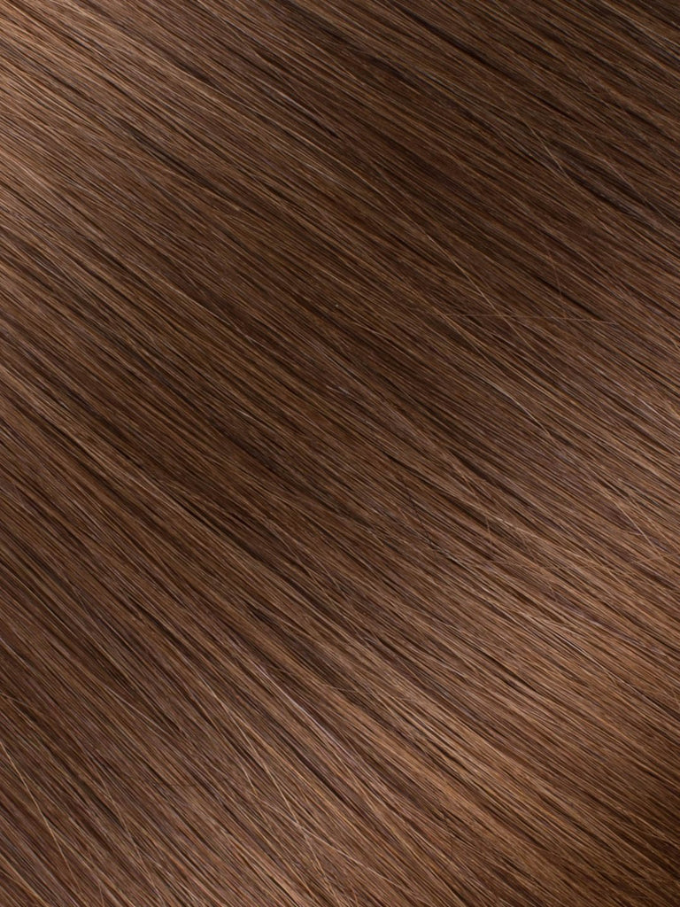 "BELLAMI Professional Keratin Tip 18"" 25g  Chocolate Brown #4 Natural Straight Hair Extensions"