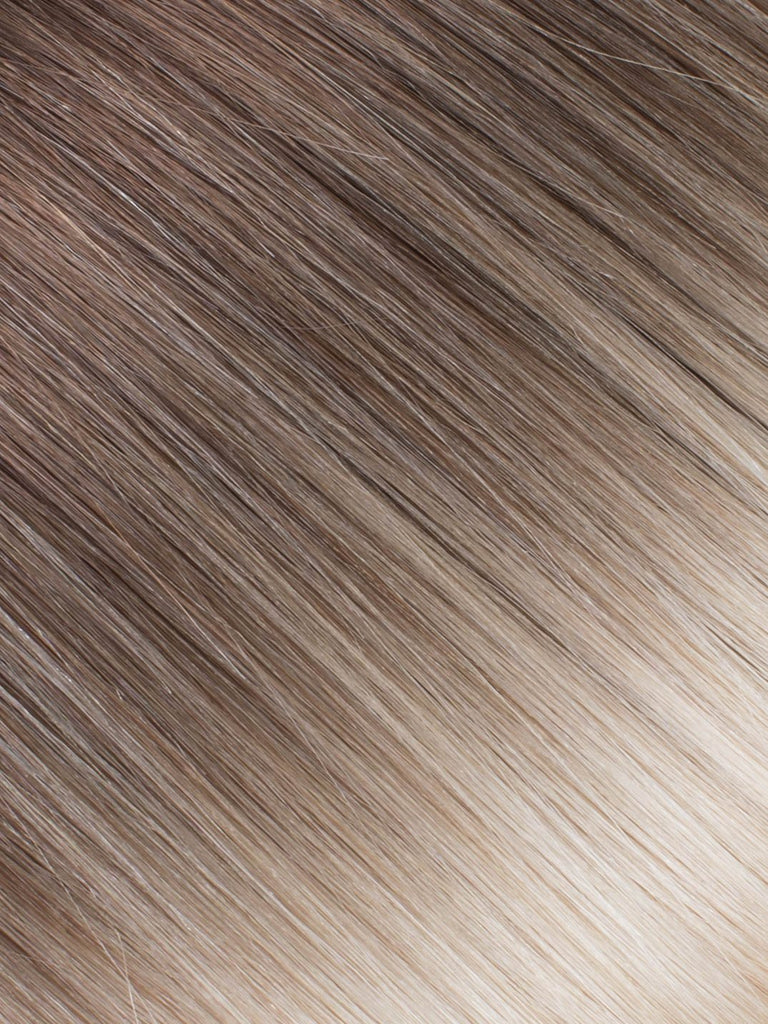"BELLAMI Professional I-Tips 18"" 25g  Dark Brown/Creamy Blonde #2/#24 Ombre Straight Hair Extensions"