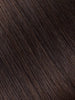 "BELLAMI Professional Keratin Tip 16"" 25g  Dark Brown #2 Natural Straight Hair Extensions"