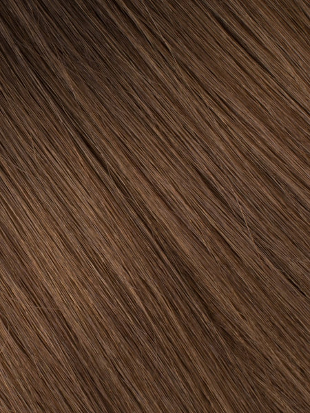 "BELLAMI Professional Tape-In 18"" 50g  Dark Brown/Chestnut Brown #2/#6 Balayage Straight Hair Extensions"