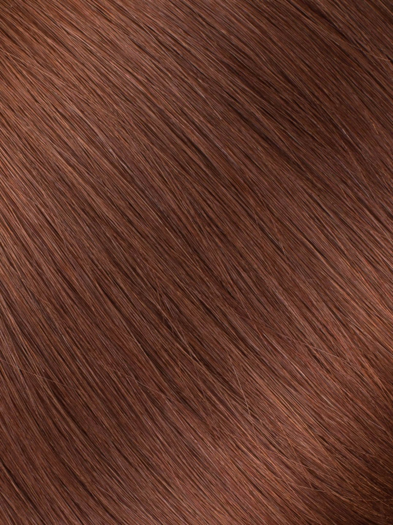 "BELLAMI Professional Keratin Tip 16"" 25g  Dark Chestnut Brown #10 Natural Straight Hair Extensions"