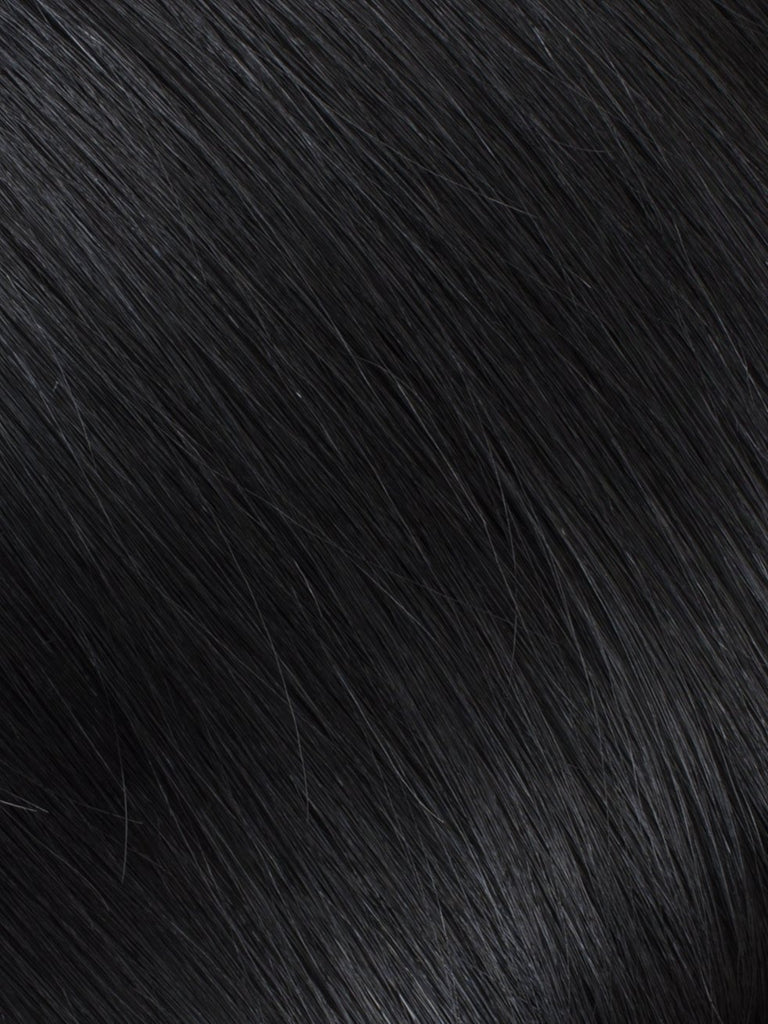 "BELLAMI Professional Keratin Tip 16"" 25g  Jet Black #1 Natural Straight Hair Extensions"