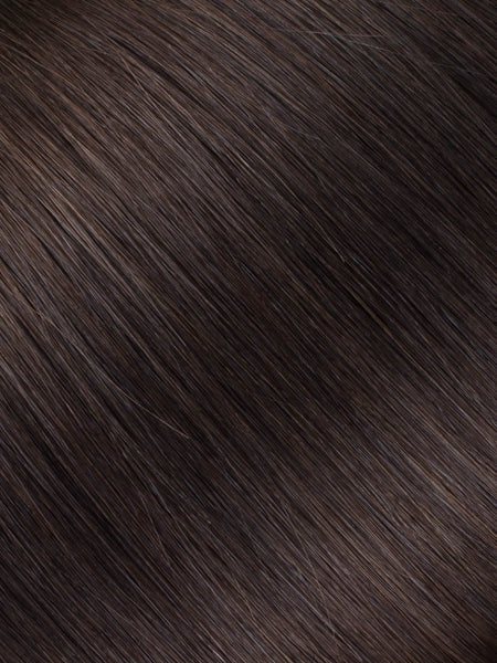 "BELLAMI Professional Tape-In 16"" 50g  Mochachino Brown #1C Natural Straight Hair Extensions"