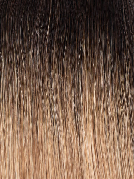 "BELLAMI Professional Keratin Tip 18"" 25g Mochachino Brown/Caramel Blonde #1C/#18/#46 Rooted Straight Hair Extensions"