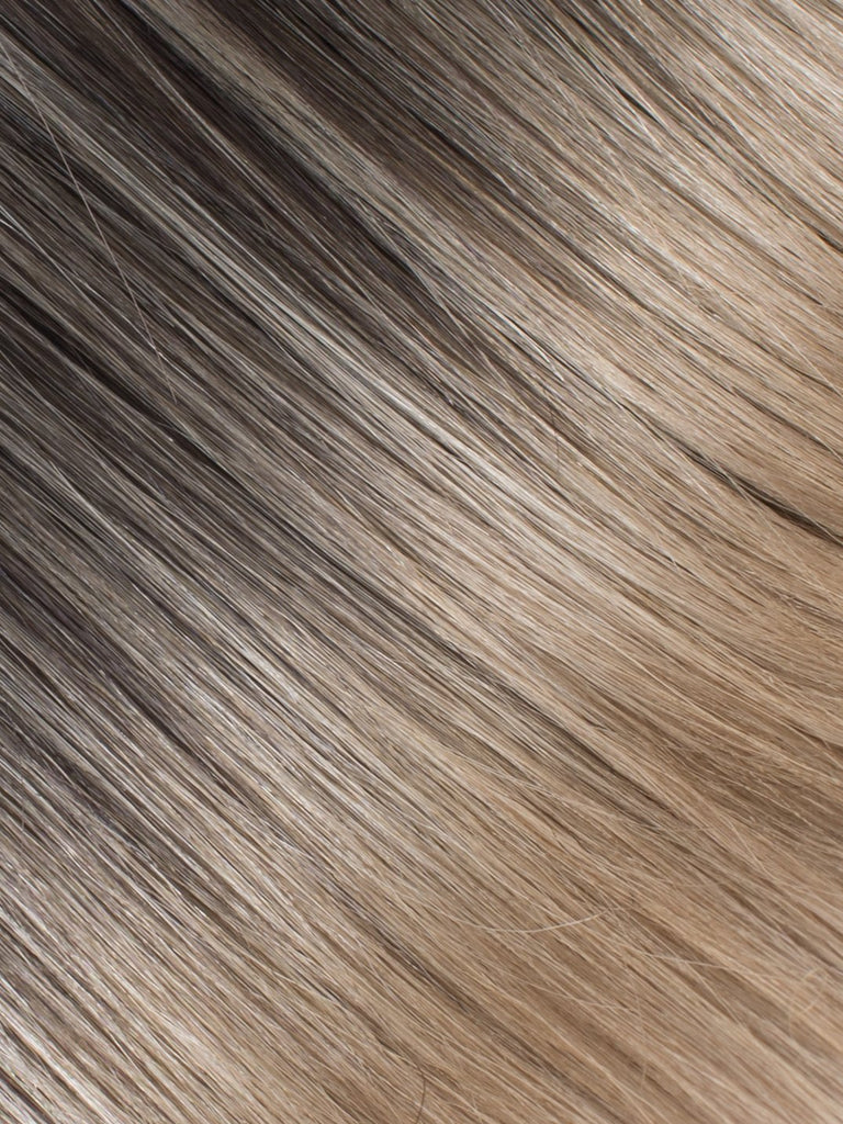 "BELLAMI Professional Tape-In 18"" 50g  Mochachino Brown/Dirty Blonde #1C/#18 Balayage Straight Hair Extensions"