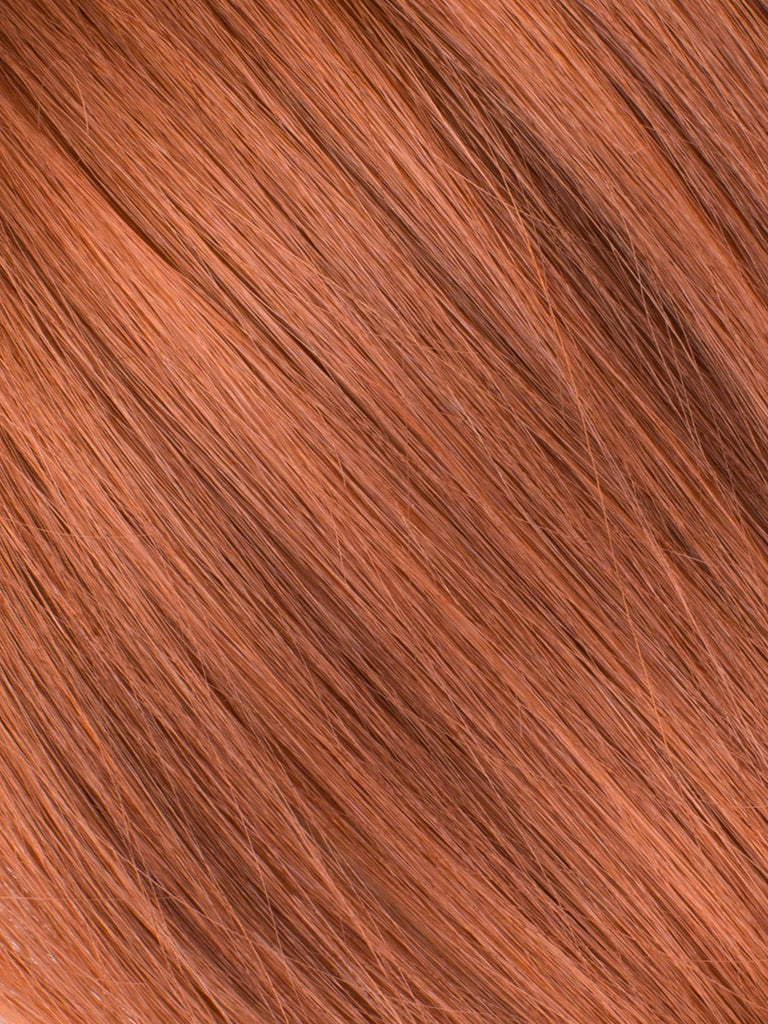 "BELLAMI Professional Tape-In 16"" 50g  Vibrant Auburn #33 Natural Straight Hair Extensions"