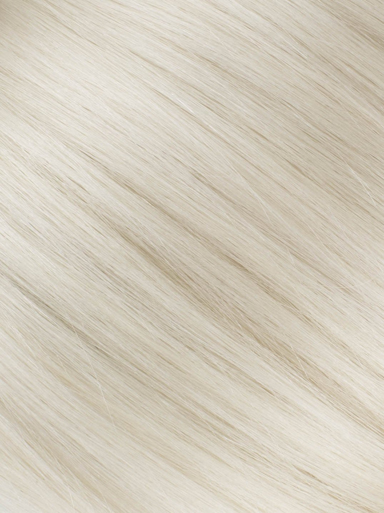 "BELLAMI Professional Tape-In 16"" 50g  White Blonde #80 Natural Straight Hair Extensions"