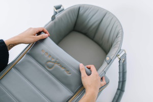 The Moses Bag™ allows you to watch baby sleep anywhere.