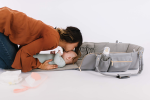 The MOSES BAG™ has a built in changing pad