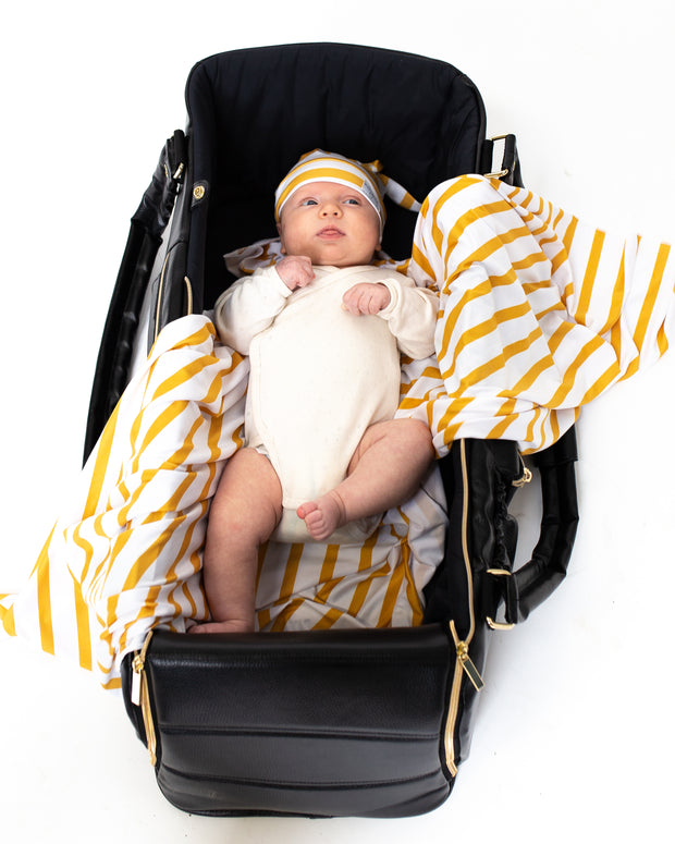 Blanket + Hat Bundle | Amber Stripe - MoryJune