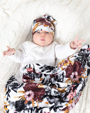 Swaddle Blanket | Winter Floral - MoryJune