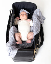 Bomb Shelter™, Blanket & Bow Bundle | Grey Check - MoryJune