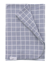 Swaddle Blanket | Grey Check - MoryJune