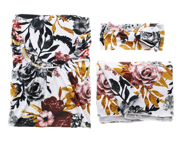 Bomb Shelter™, Blanket & Bow Bundle | Winter Floral - MoryJune
