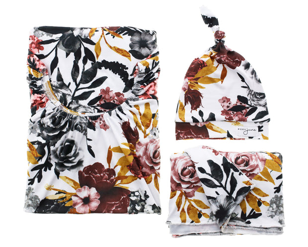 Bomb Shelter™, Blanket & Hat Bundle | Winter Floral - MoryJune