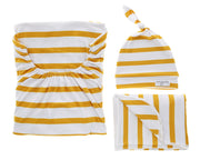 Bomb Shelter™, Blanket & Hat Bundle | Amber Stripe - MoryJune