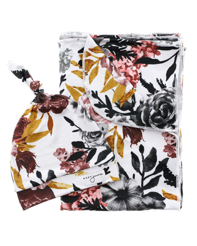Blanket + Hat Bundle | Winter Floral - MoryJune