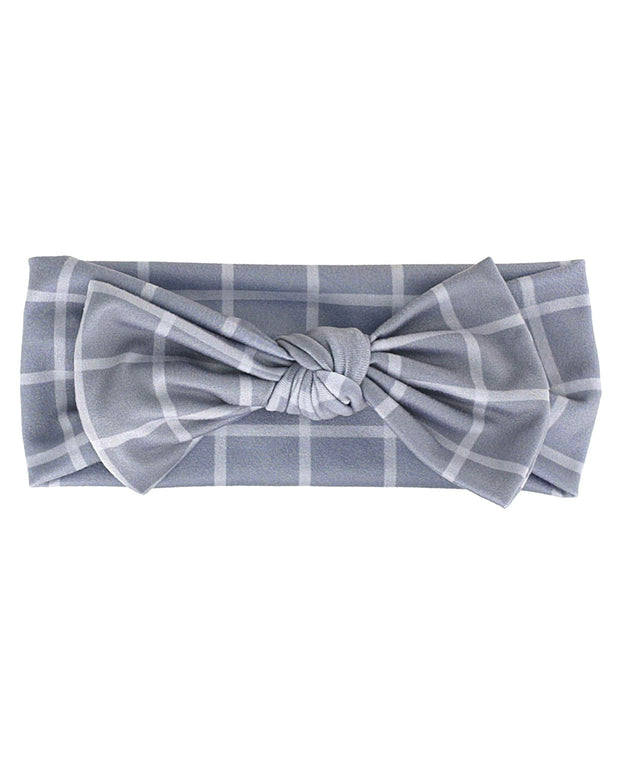 Knit Bow | Grey Check - MoryJune
