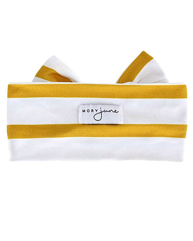 Knit Bow | Amber Stripe - MoryJune