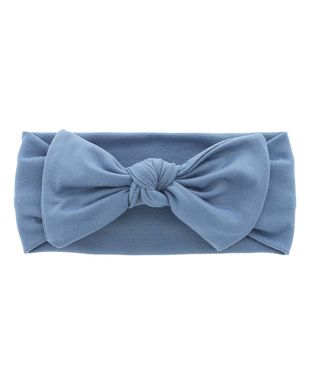 Knit Bow | Steel Blue