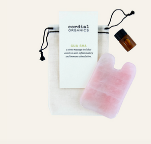 Jade or Rose Quartz Gua Sha