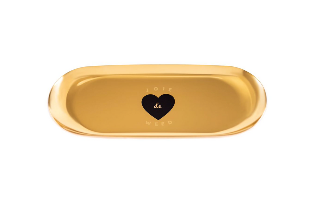 Joie de Weed Gold-Tone Rolling Tray