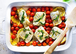 Thur Aug 6th - Baked Cod with Cherry Tomato