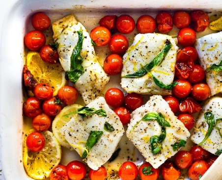Baked cod with cherry tomato - Tue May 19th (With Contactless Free Delivery)