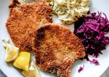 Load image into Gallery viewer, Wed Dec 2nd - Schnitzel (Crispy Homestead Pork Loin) or Pan Fried Veggie Cake
