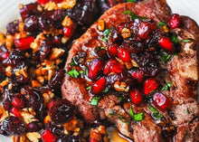 Load image into Gallery viewer, Tue Jan 26th - Pomegranate and Rosemary Braised Lamb OR Cauliflower Steak