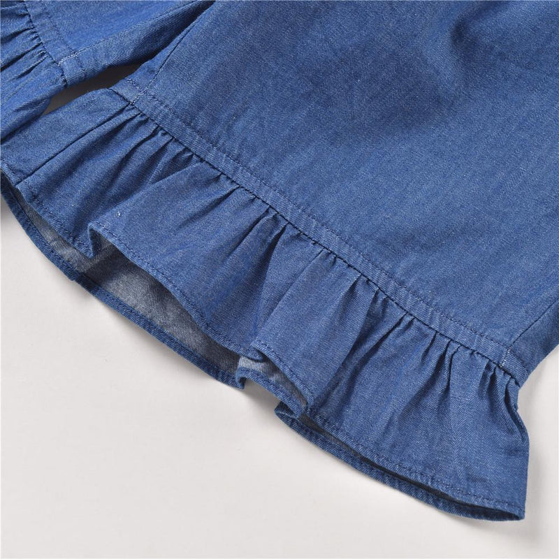 Isabel Denim Shorts Denim Blue