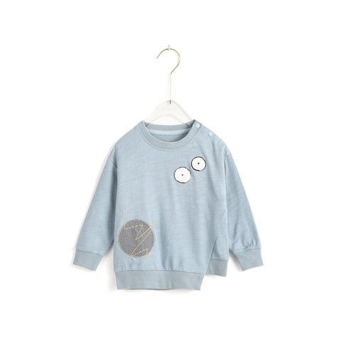 Applique Embroidery Sweatshirt