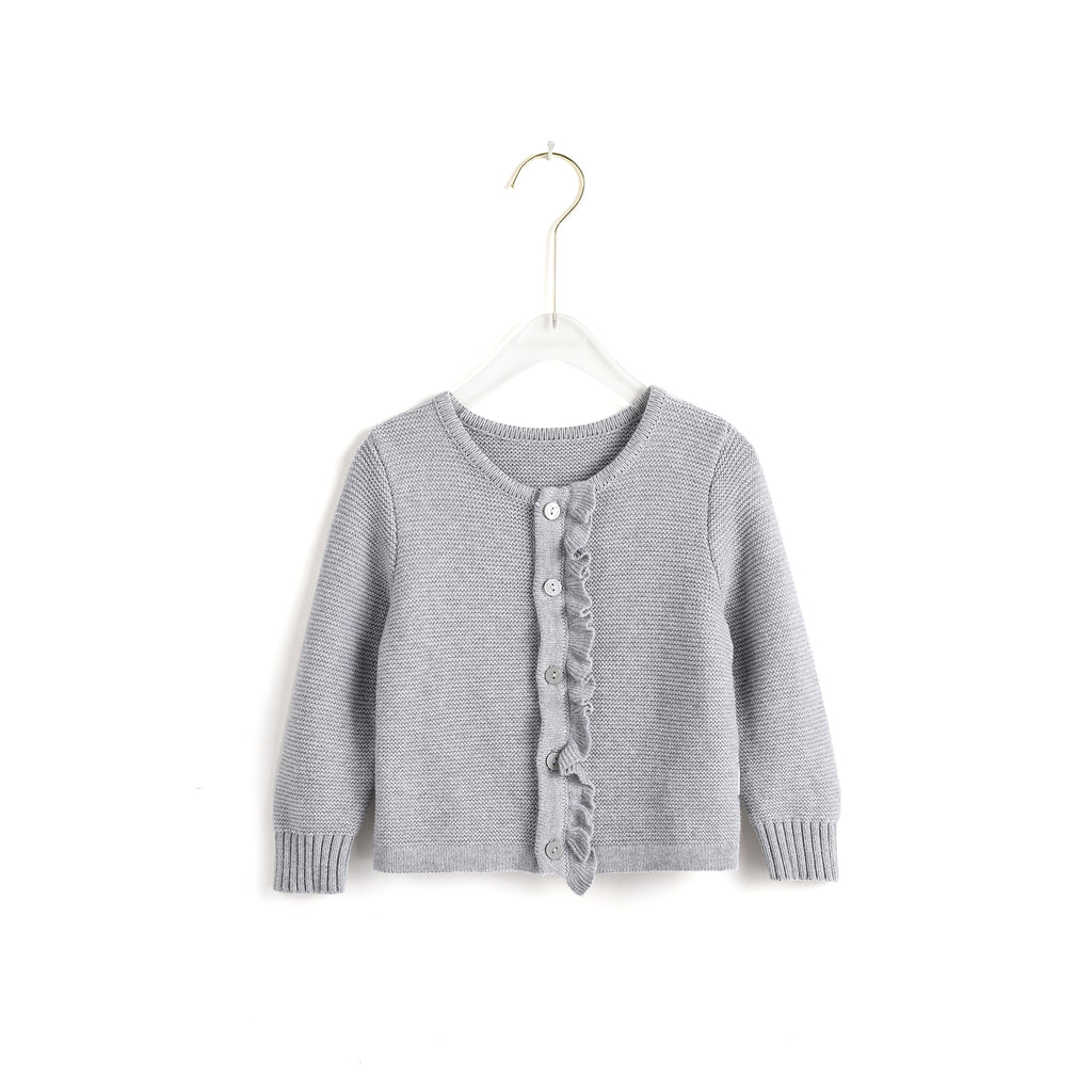Basic Ruffled Cardigan