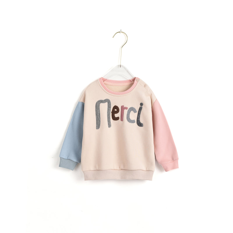 Text Embroidered Sweatshirt