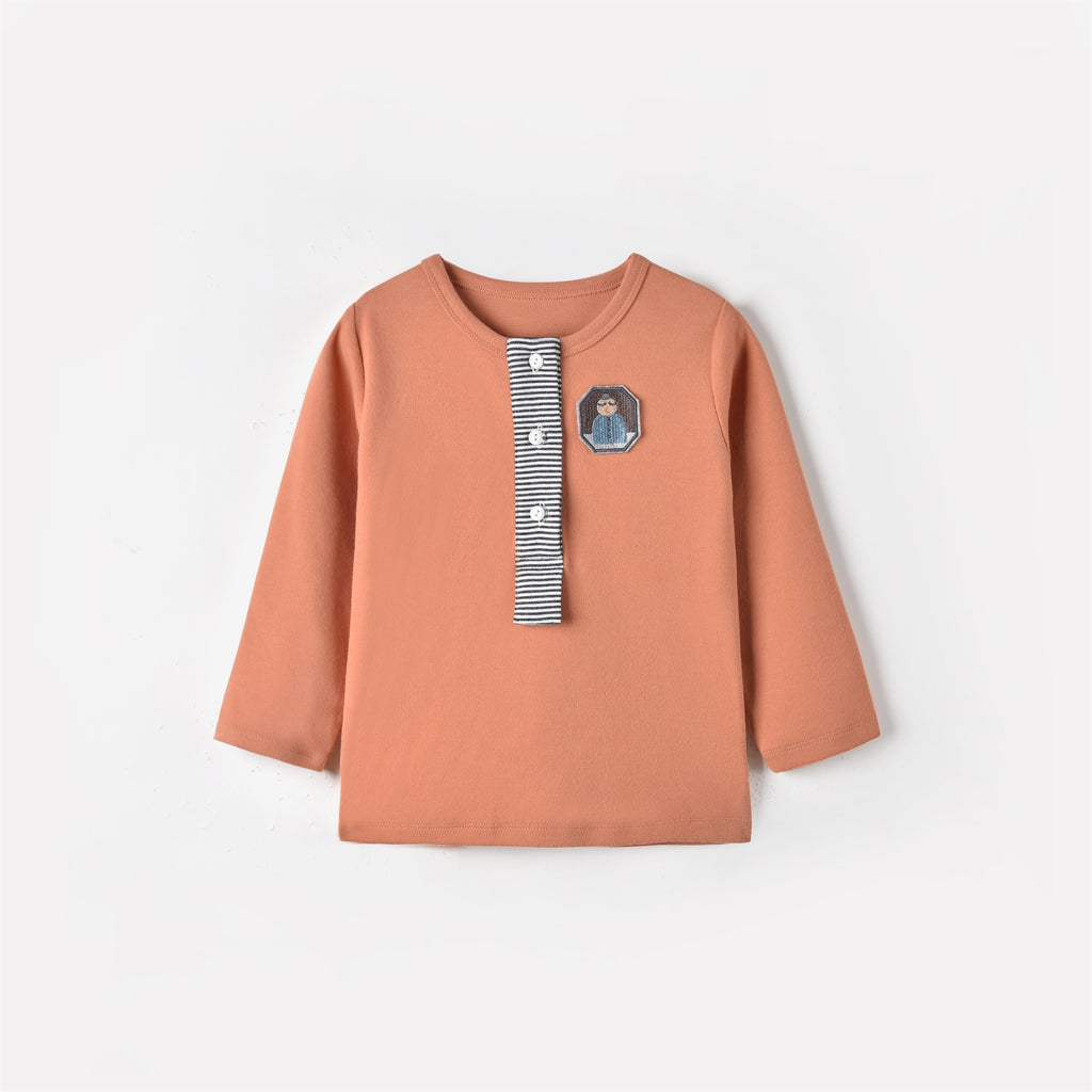 Jose L/S T-shirt Antic Orange