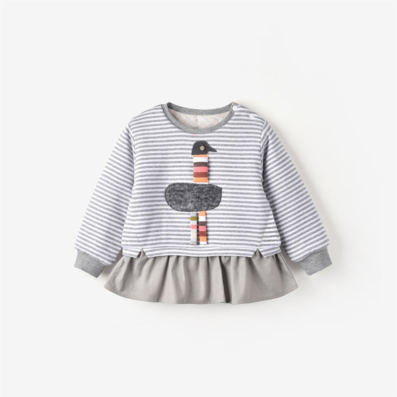 Grace Sweatshirt Grey Stripe