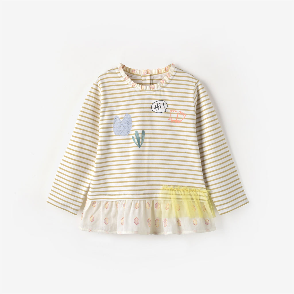Mia L/S T-shirt Lemon Stripe