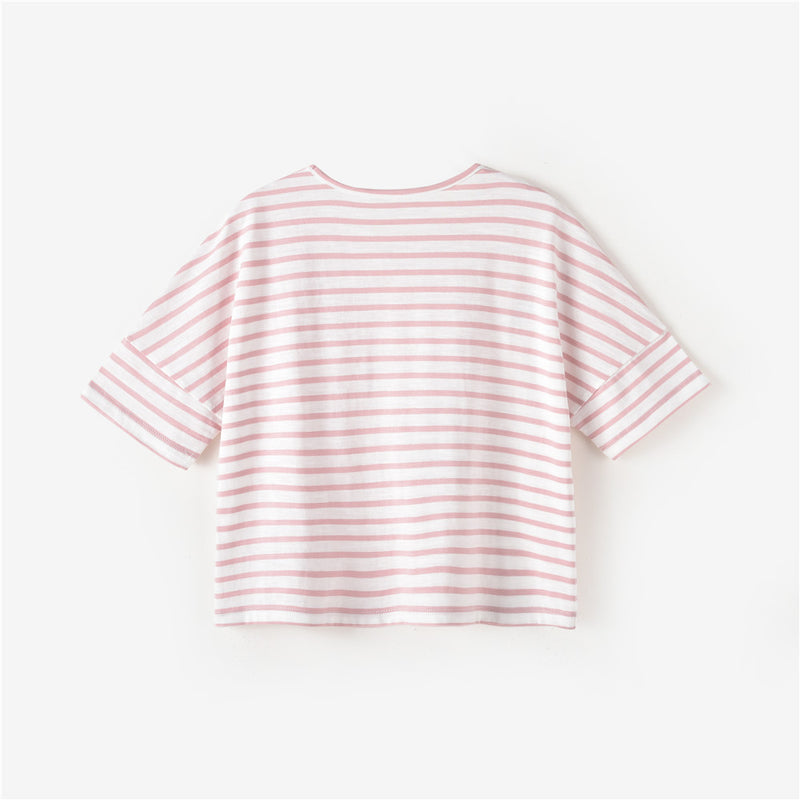 Esther S/S T-shirt Pink/White Stripe
